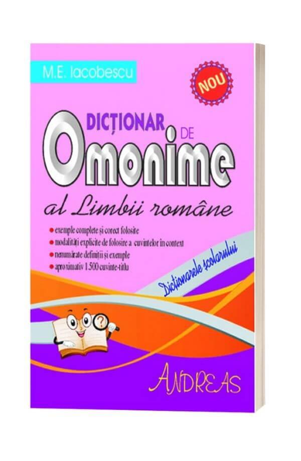 Dictionar de Omonime al Limbii Romane - M.E. Iocobescu