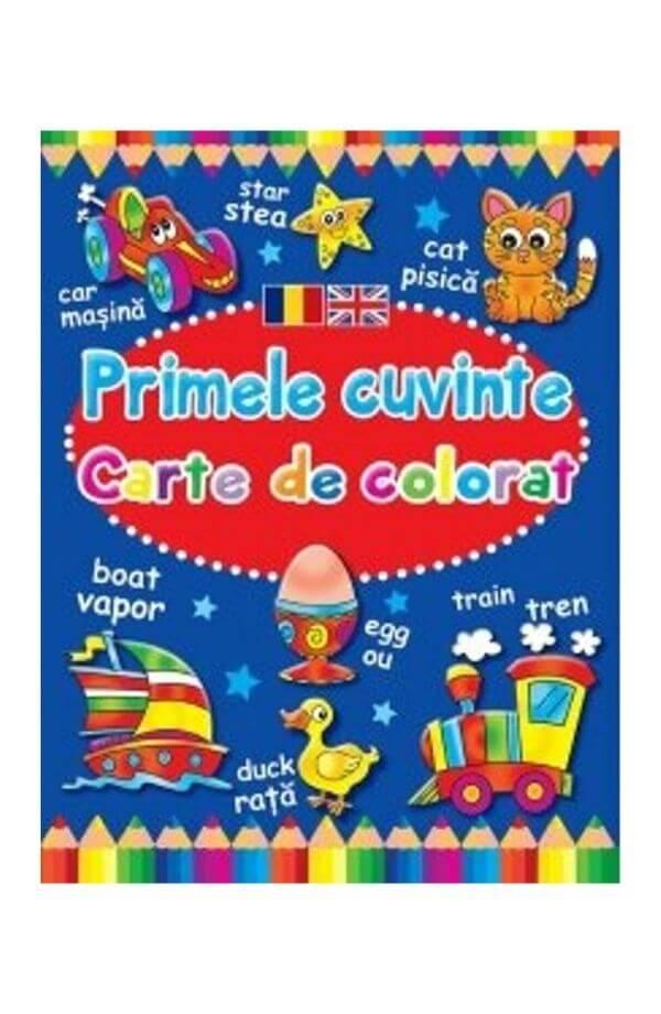 Primele cuvinte. Carte de colorat romano-engleza