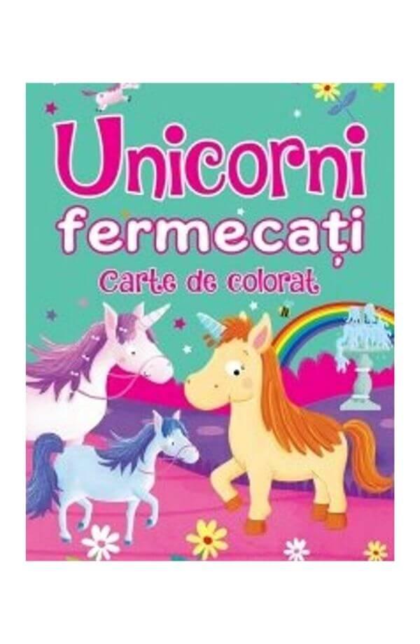 Unicorni fermecati - Carte de colorat