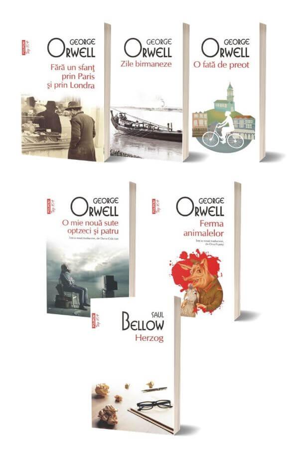 Pachet George Orwell + Herzog - Saul Bellow