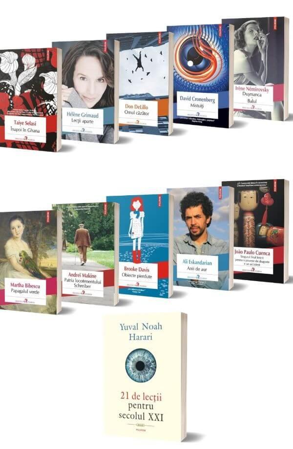 Pachet Biblioteca Polirom ( 10 carti + Cadou 21 de lectii pentru secolul XXI - Yuval Noah Harari )