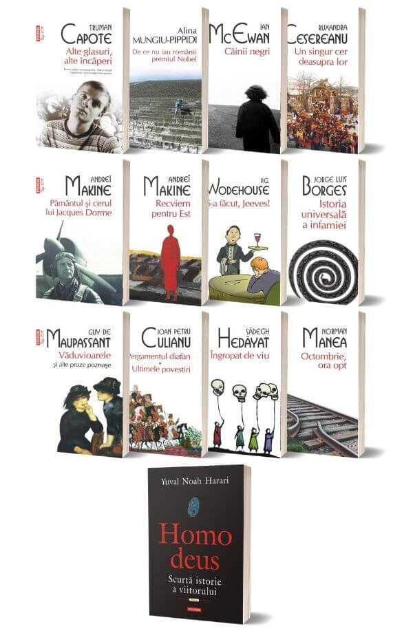 Pachet Top 10+ ( 12 carti + Cadou Homo deus Scurta istorie a viitorului - Yuval Noah Harari )