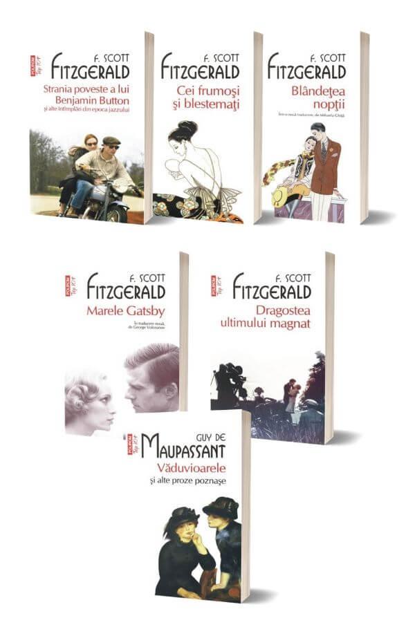 Pachet F. Scott Fitzgerald + Vaduvioarele si alte proze poznase - Guy de Maupassant