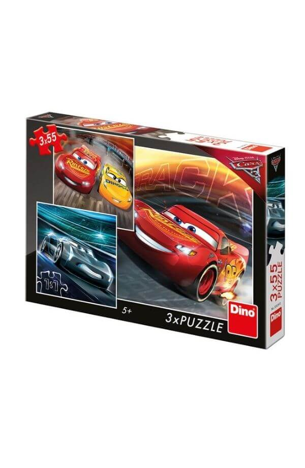 Puzzle 3 in 1 - Cars (3 x 55)