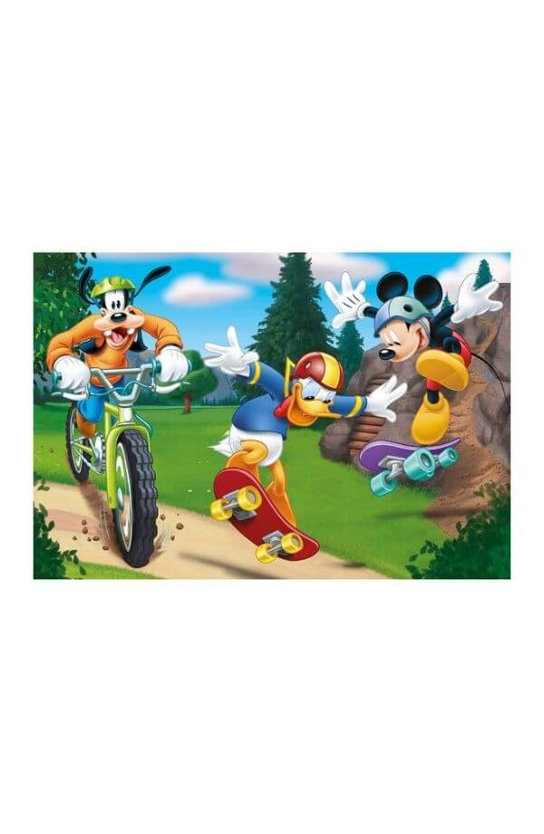 Puzzle 2 in 1 - MICKEY SPORTS (2 x 77)