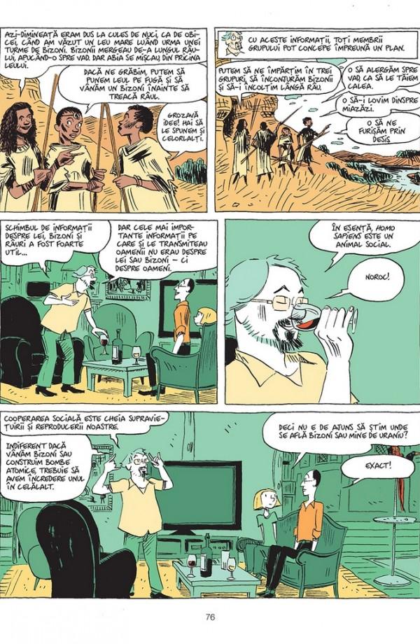 Sapiens. O istorie grafică. Volumul I. Nașterea omenirii - Yuval Noah Harari , David  Vandermeulen , Daniel Casanave